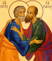 the icons of Bose, Peter and Paul - Byzantine style