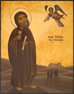 Bose: icon of St. Pachomius - Coptic style