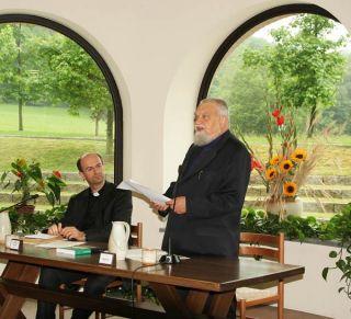 Bose, 5 juin 2008 Stefano Russo et Enzo Bianchi à l'ouverture du colloque