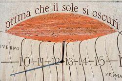 Bose, stone sundial by Silvio Magnani