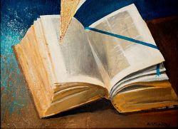 Bible, huile sur toile - Arcabas