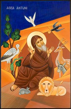 le icone di Bose, S. Antonio - icona in stile copto