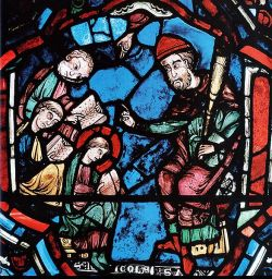 Chartres, stain-glass window