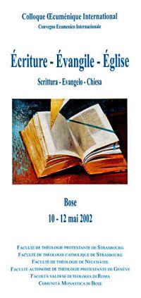 Scrittura - vangelo - Chiesa