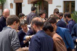la communauté réunie pour la saint Pachôme